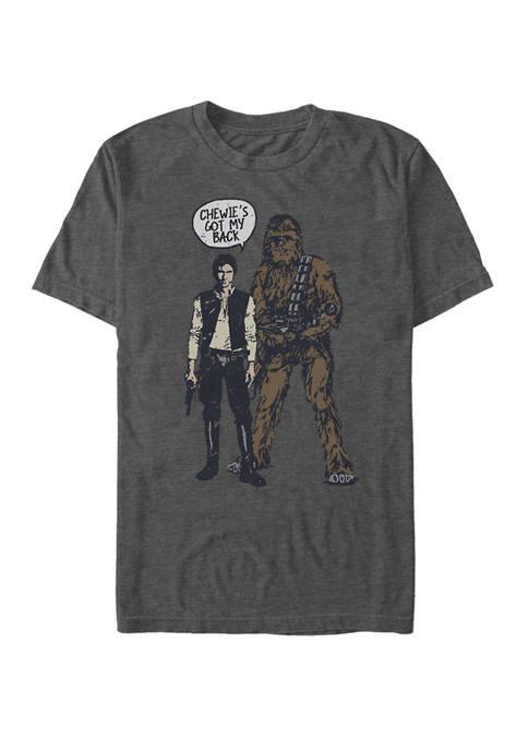 Han Chewies Got My Back Doodle Short-Sleeve T-Shirt