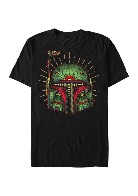Big & Tall Star Wars Boba Sugar Skull Graphic Short Sleeve T-Shirt