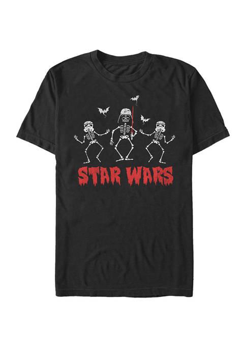 Big & Tall Darth Vader Stormtrooper Skeletons Short Sleeve T-Shirt