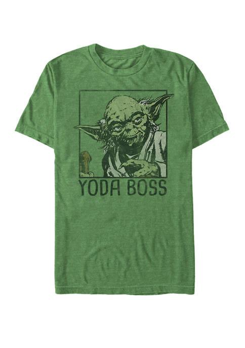 Star Wars® Yoda Boss Short Sleeve Graphic T-Shirt