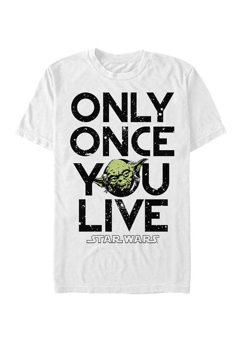 Yoda Lives Once Short-Sleeve T-Shirt