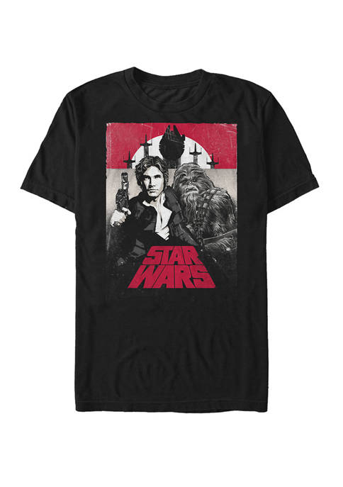 Han and Chewbacca Distressed Poster Short-Sleeve T-Shirt