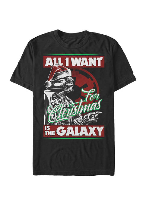 Big & Tall Darth Vader All I Want For Christmas Is The Galaxy
