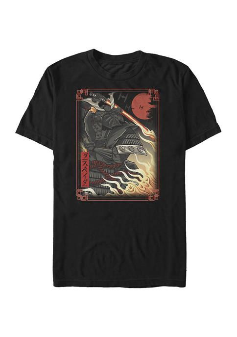 Big & Tall Star Wars Darth Vader Tapestry Graphic Short Sleeve T-Shirt