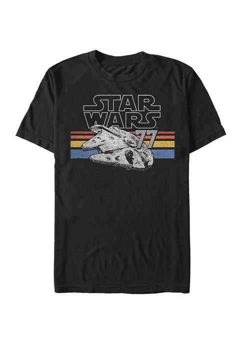 Big & Tall Star Wars Falcon Stripes Graphic Short Sleeve T-Shirt