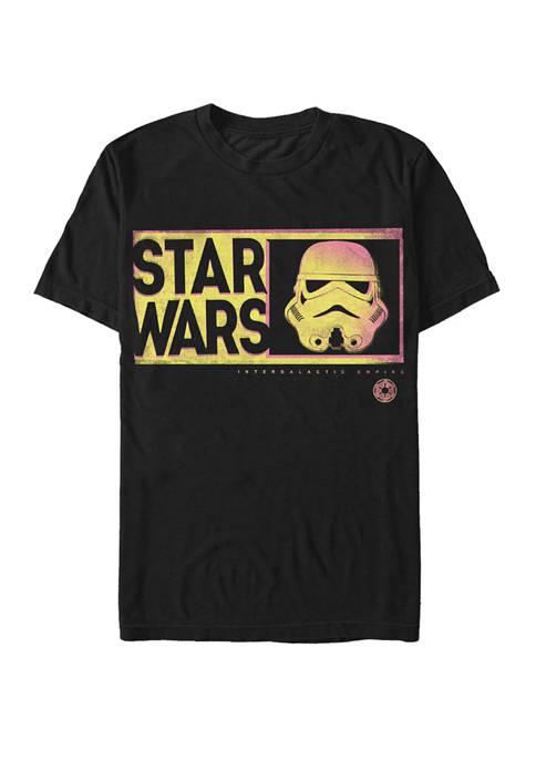Storm Trooper Neon Helmet Short Sleeve T-Shirt