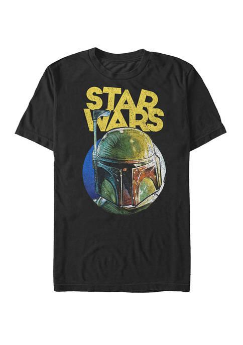 Boba Fett Grunge Helmet Short-Sleeve T-Shirt
