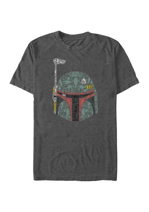 Big & Tall Star Wars Boba Icons Graphic Short Sleeve T-Shirt