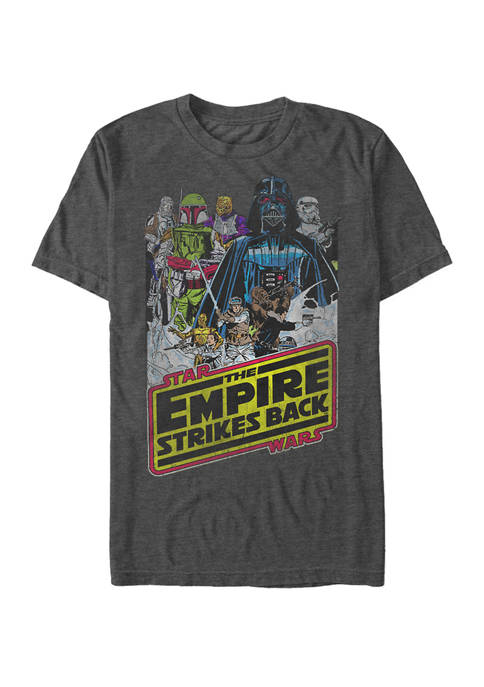 Big & Tall Empire Strikes Back Group Poster Short Sleeve T-Shirt