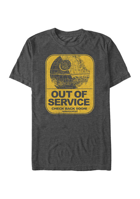 Big & Tall Star Wars Out Of Service Graphic Short Sleeve T-Shirt