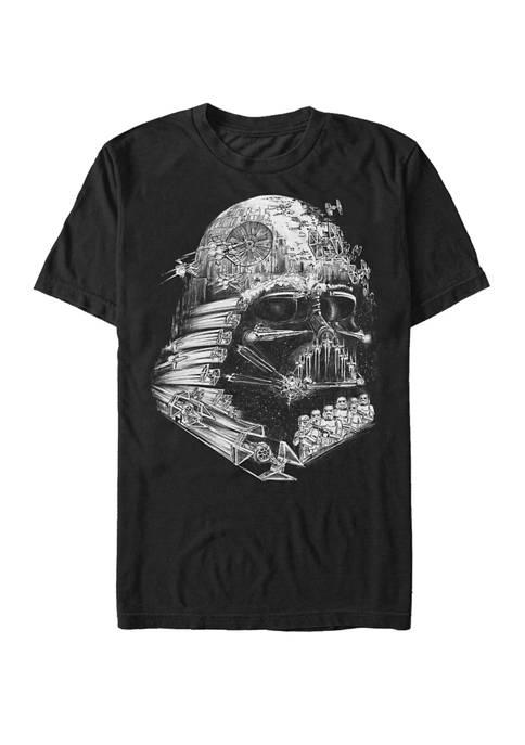 Big & Tall Darth Vader Empire Helmet Short Sleeve Graphic T-Shirt