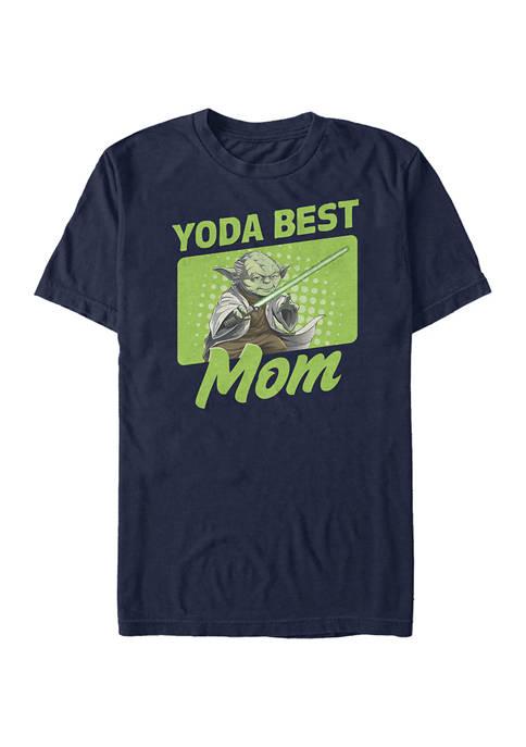 Yoda Best Mom Graphic Short Sleeve T-Shirt