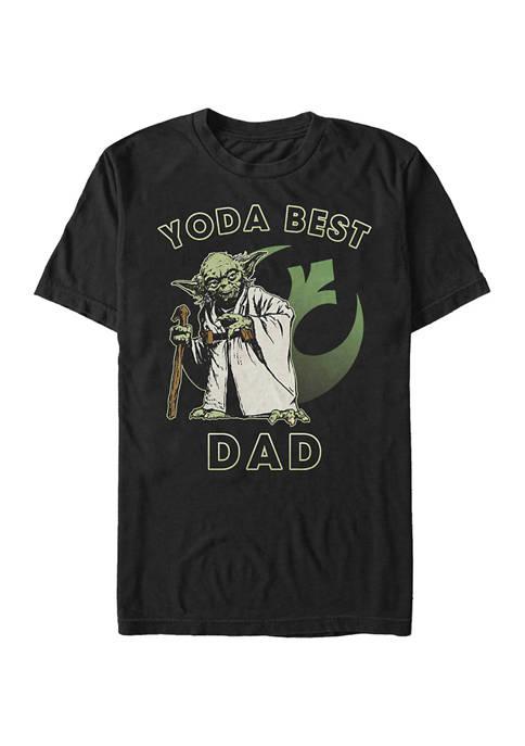 Big & Tall Star Wars Yoda Best Dad Graphic Short Sleeve T-Shirt