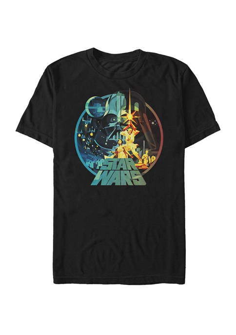 Big & Tall A New Hope Glass Art Short Sleeve Graphic T-Shirt