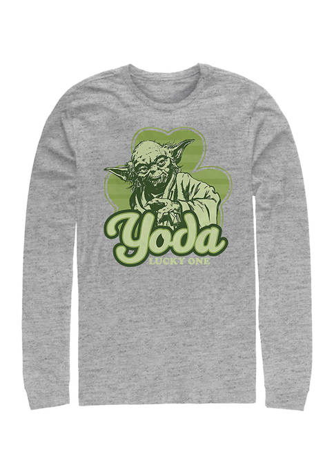Star Wars Yoda Lucky Retro Graphic Long Sleeve T-Shirt