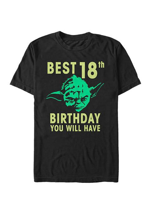 Star Wars® Yoda Eighteen Graphic Short Sleeve T-Shirt