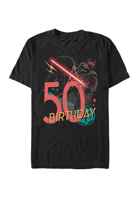 Vader 50th Bday Graphic Short Sleeve T-Shirt