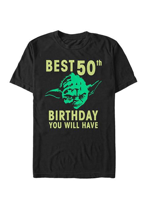 Star Wars® Yoda Fifty Graphic Short Sleeve T-Shirt