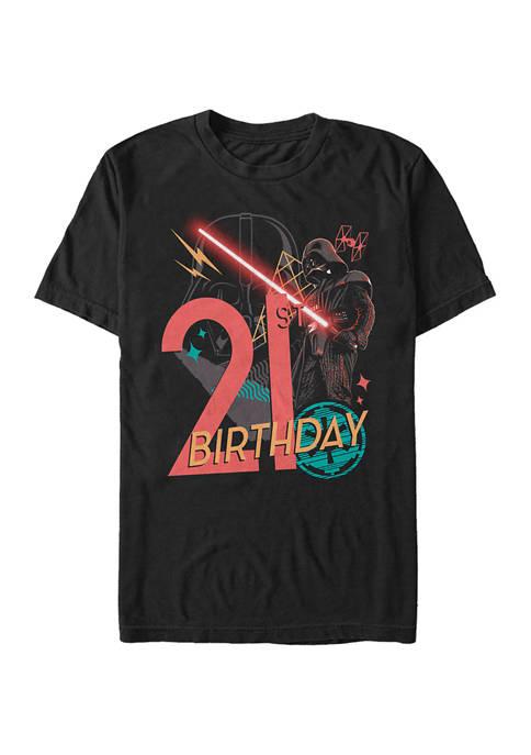Vader 21st Bday Graphic Short Sleeve T-Shirt