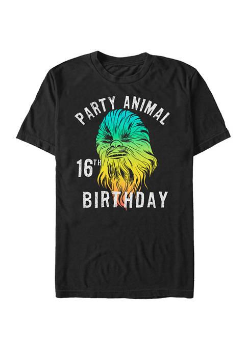 Chewie Birthday Sixteen Graphic T-Shirt