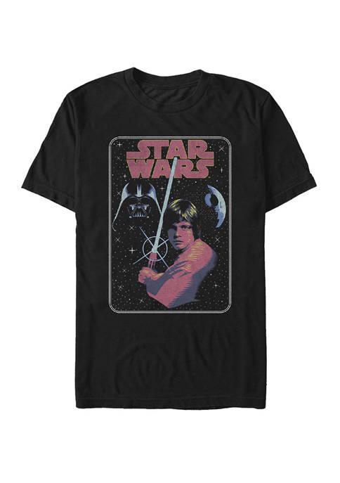 Luke Skywalker Darth Vader Galaxy Poster Short Sleeve T-Shirt