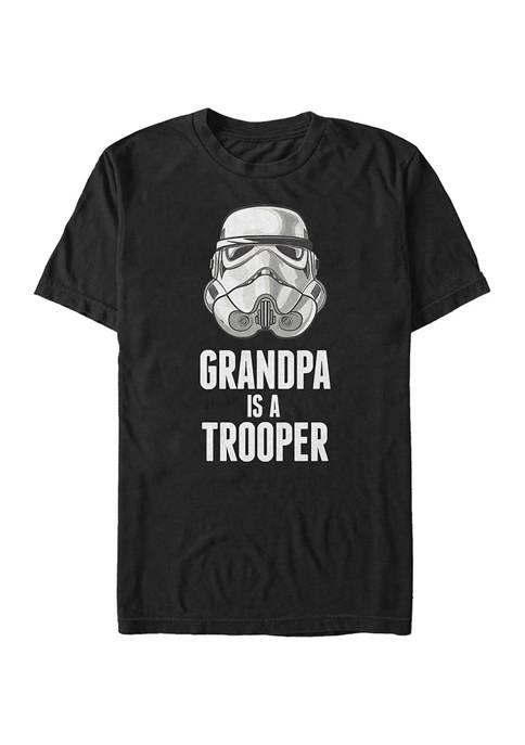 Big & Tall Star Wars Grandpa Trooper Graphic Short Sleeve T-Shirt