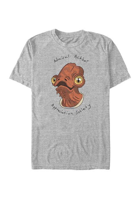 Star Wars® Admiral Ackbar Short Sleeve Graphic T-Shirt