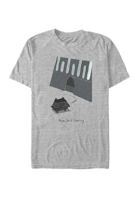 Mouse Droid Crossing Short Sleeve Graphic T-Shirt