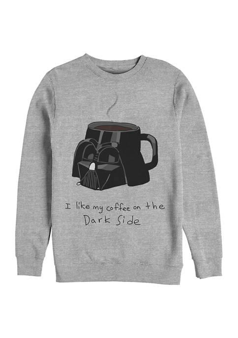 Coffee On The Dark Side Fleece Graphic Sweatshirt
