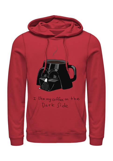 Coffee On The Dark Side Fleece Graphic Hoodie