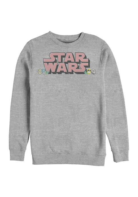 Star Eggs Graphic Crew Fleece Sweatshirt