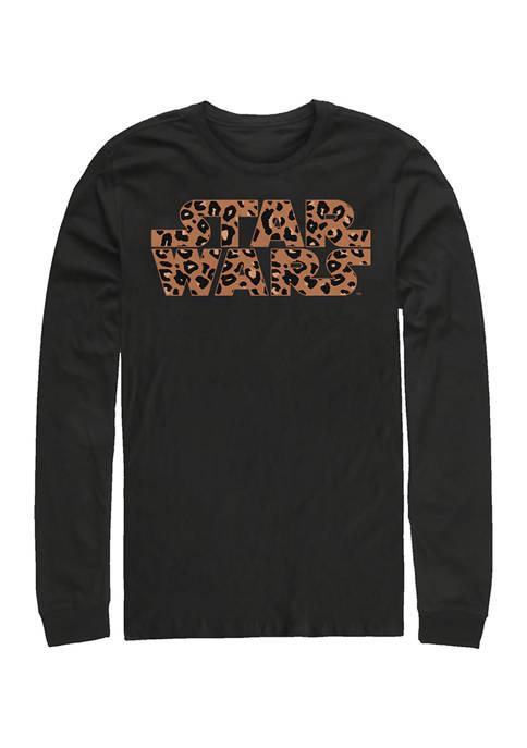 Star Wars® Logo Cheetah Fill Long Sleeve Graphic