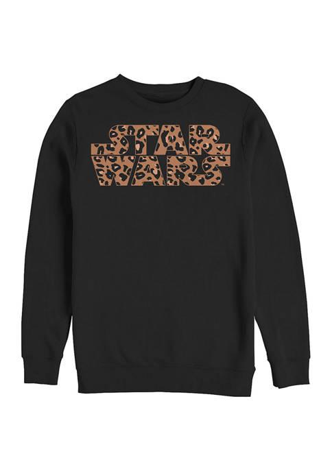 Logo Cheetah Fill Fleece Graphic Sweatshirt