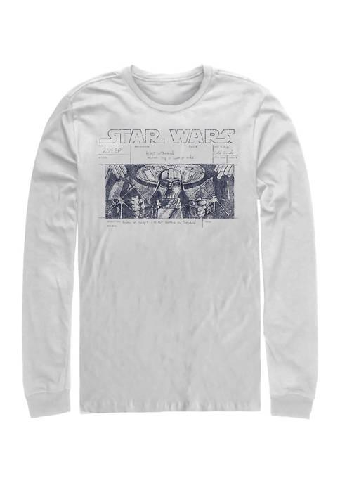 Star Run Long Sleeve Crew Graphic T-Shirt