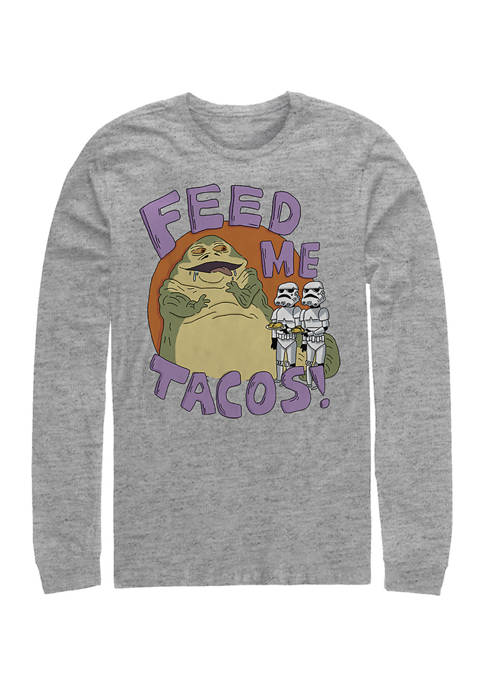 Jabba Tacos Long Sleeve Crew Graphic T-Shirt