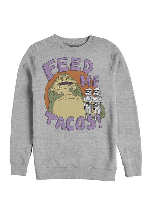 Jabba Tacos Crew Fleece Graphic Sweatshirt