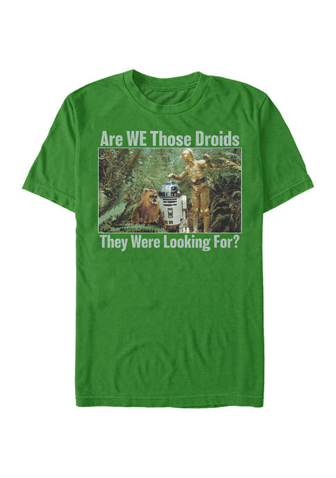 Looking For Droids Graphic T-Shirt