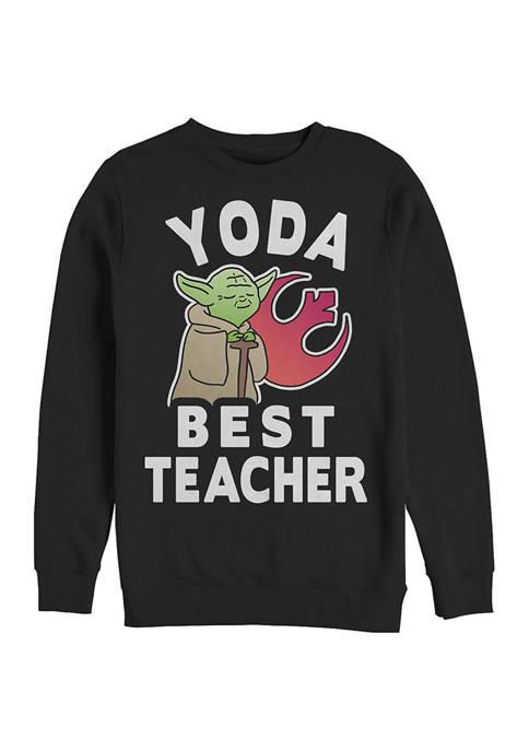Yoda Teacher Crew Fleece Graphic Sweatshirt