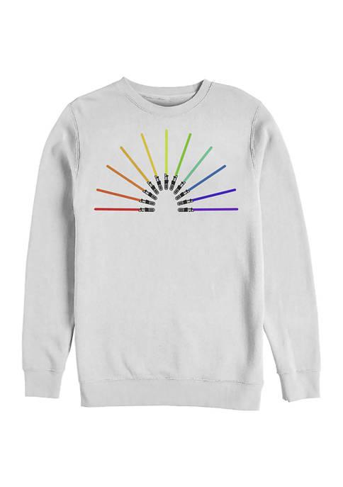 Sabor Rainbow Crew Fleece Graphic Sweatshirt