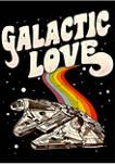 Galactic Love Falcon Graphic T-Shirt