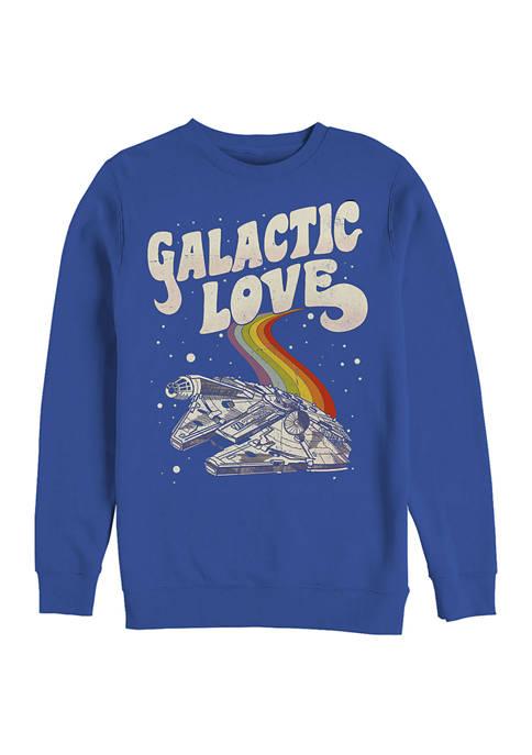 Star Wars® Galactic Love Falcon Crew Fleece Graphic