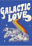 Galactic Love Falcon Crew Fleece Graphic Sweatshirt