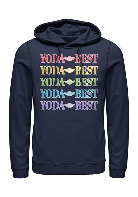 Star Wars® Yoda Best Rainbow Fleece Graphic Hoodie