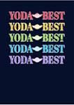 Yoda Best Rainbow Fleece Graphic Hoodie