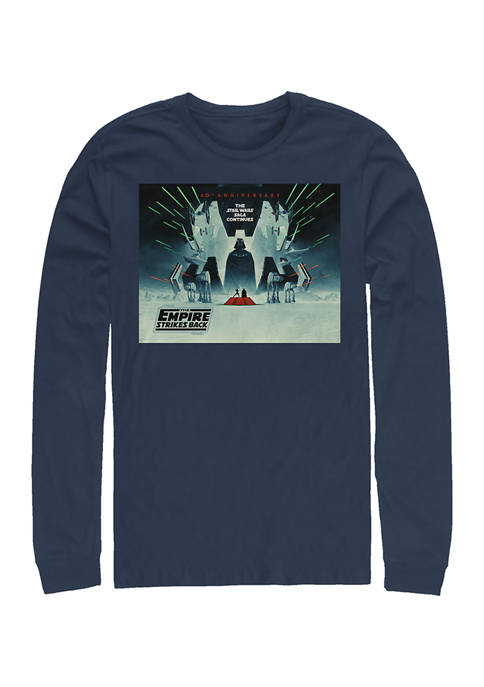 ESB Poster Square Long Sleeve Crew Graphic T-Shirt
