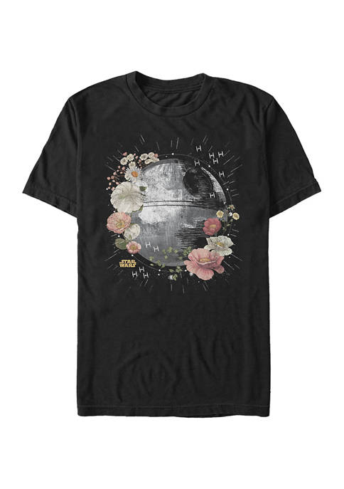 Floral Death Star Graphic T-Shirt
