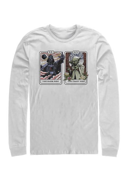 Vader Yoda Tarot Long Sleeve Crew Graphic T-Shirt