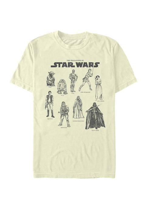 Character Chart Graphic T-Shirt