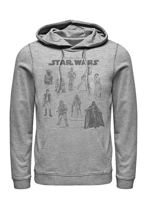 Star Wars® Character Chart Fleece Graphic Hoodie