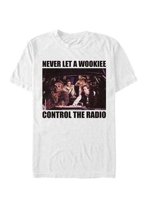 Star Wars® No Wookie Radio Graphic T-Shirt